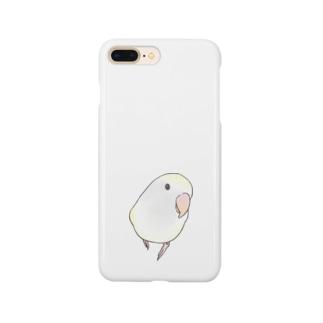 コザクラインコ バイオレットパイドちゃん【まめるりはことり】 Smartphone cases