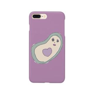 ブルベアボカドちゃんむらさき Smartphone cases