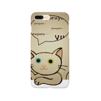 ゆる猫オッド セピア Smartphone cases