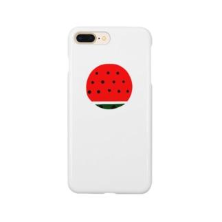 まるいスイカ ハートの種 Smartphone cases