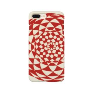 シンプル曼荼羅 ( 赤 ) Smartphone cases