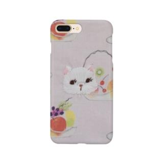 キャットフルーツパフェ Smartphone cases