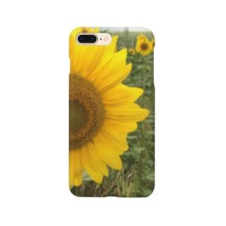 八月のひまわり Smartphone cases