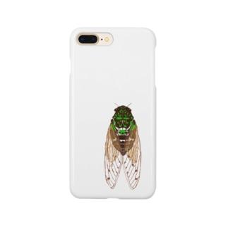 蝉ブローチ Smartphone cases