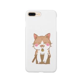 ジャストフィット?!(茶トラ白猫) Smartphone cases