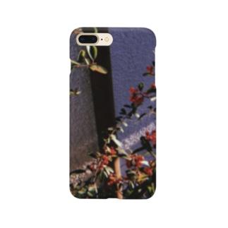 冬の朝に咲いた赤 Smartphone cases