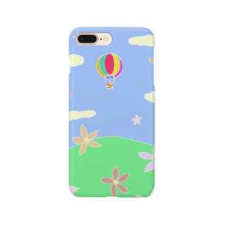 こぶしの花と気球の未来 Smartphone cases