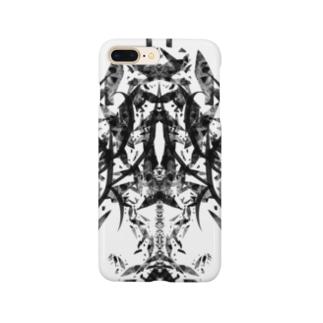 フラグメント(黒ver) Smartphone cases