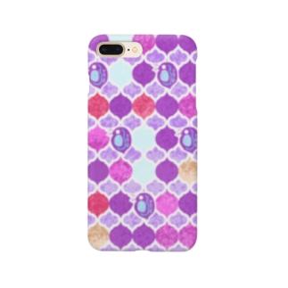 ミジンコ×モロッカン_紫 Smartphone cases