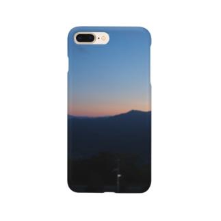 藻岩山の夕日 Smartphone cases
