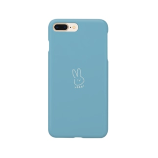 やるきのないうさぎ くすみブルー Smartphone cases