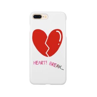 ハートブレイク Smartphone cases