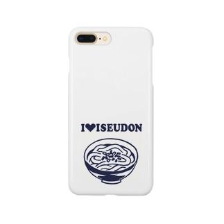 I♥ISEUDONモノクロ(田上千晶) Smartphone cases