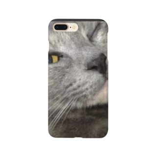 ウィンク猫 Smartphone cases