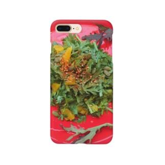 春菊とオレンジのサラダ Smartphone cases
