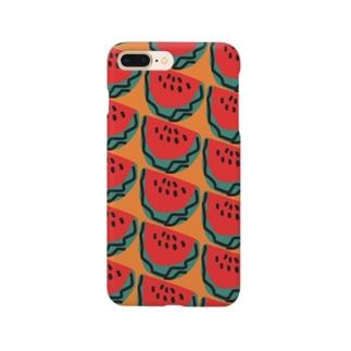 スイカ(オレンジ) Smartphone cases