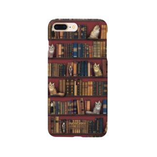 本と猫とお人形 Smartphone cases