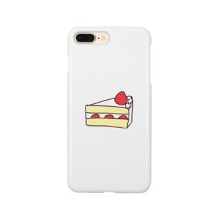 美味しい苺のショートケーキ Smartphone cases