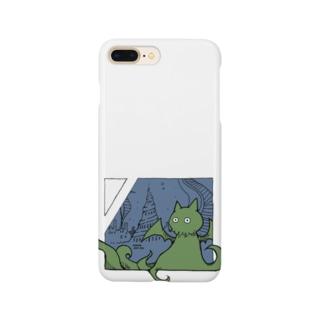 冒涜的な猫ルフ(色付き) Smartphone cases