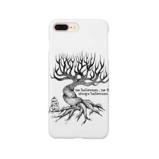 木の下にカボチャ Smartphone cases