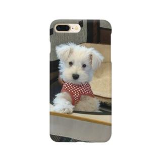 白シュナ圭くん Smartphone cases