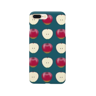 ちょっと毒々しい赤リンゴ柄 Smartphone cases