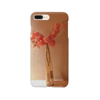 暖かみオレンジ Smartphone cases
