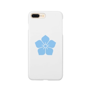 明智光秀(水色桔梗紋) Smartphone Case