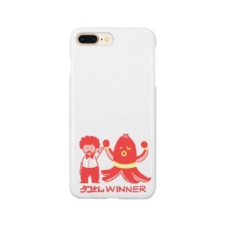 おもしろTシャツ屋(oko)jの【ドラマ あのキス】タコさんWINNER【ご着用】 Smartphone Case