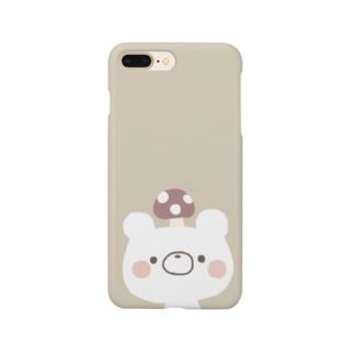 しろくまごろうくん きのこ Smartphone cases