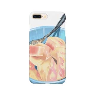 カット桃 Smartphone cases