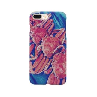 北陸からやってきた香箱ガニ4兄弟 Smartphone cases