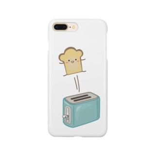 ポップアップトースターと食パンさん Smartphone cases