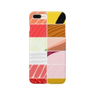 寿司カラーパターン Smartphone cases