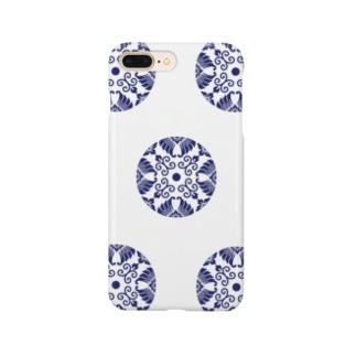 承香院(じょうこういん)オリジナルグッズの臥蝶の丸紋グッズ(承香院) Smartphone cases