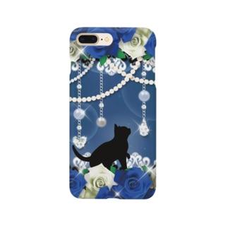 Lunatic Cat-ismのFANTASY CAT - ROSE Smartphone cases
