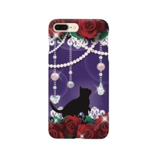 Lunatic Cat-ismのFANTASY CAT - ROSE Smartphone Case
