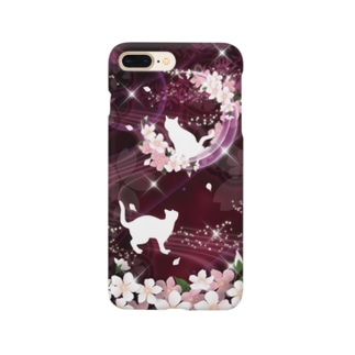 Lunatic Cat-ismのFANTASY CAT - SAKURA Smartphone cases