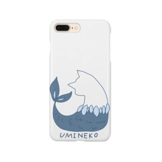 ちょぼろうSHOPのウミネコ(線あり) Smartphone cases