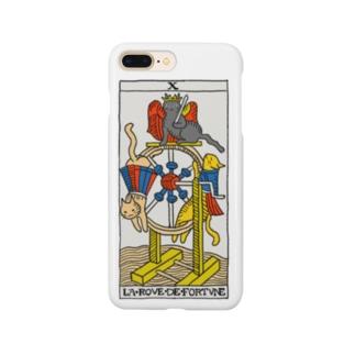ネコタロット(運命の輪) Smartphone cases