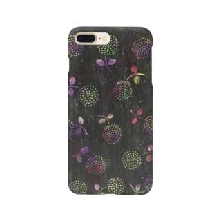 レトロなお花 Smartphone cases