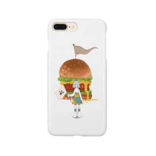 ばかでかハンバガ Smartphone cases