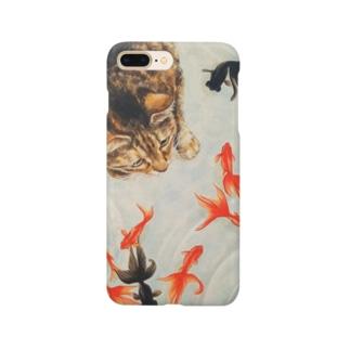 くるみちゃんと金魚 Smartphone cases