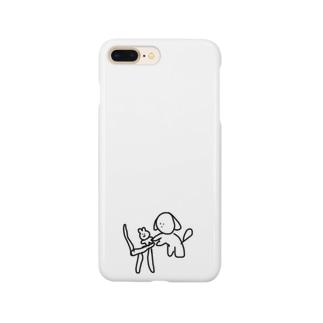 椅子の上のぬいぐるみ Smartphone cases