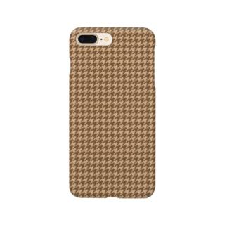千鳥格子(テーマ:コーヒークッキー) Smartphone cases