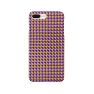 千鳥格子(テーマ:レーズンサンド) Smartphone cases