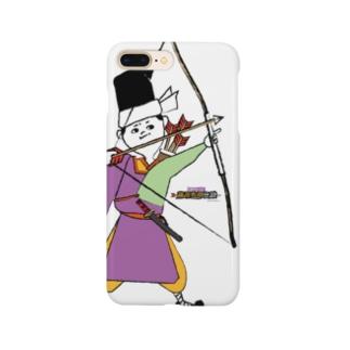 秀郷 /弓 (ホワイト) Smartphone cases