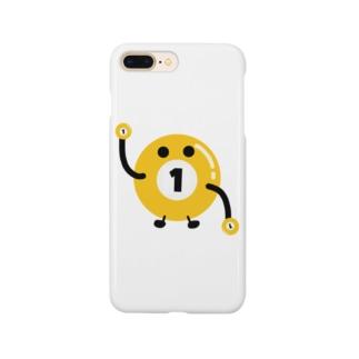 ビリヤードのビリちゃん Smartphone cases