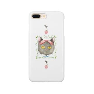 白雪姫風猫 Smartphone cases