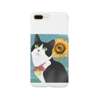 ハチワレ猫 こてつ君 Smartphone cases